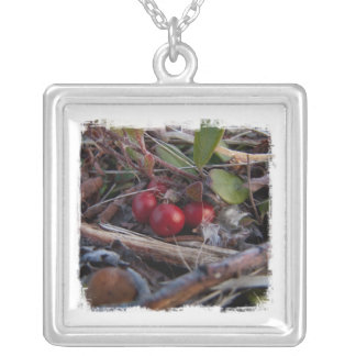 Berries and Twigs Silver Plated Necklace