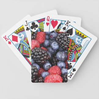 berries background bicycle playing cards
