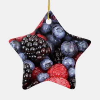 berries background ceramic ornament