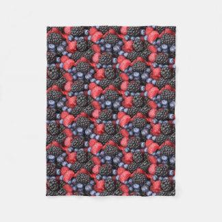 berries background fleece blanket