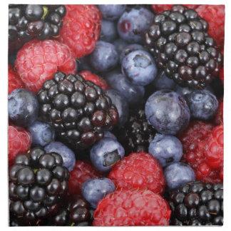 berries background napkin