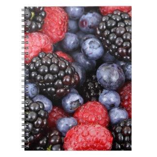 berries background notebook