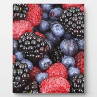 berries background plaque