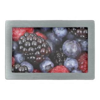 berries background rectangular belt buckles