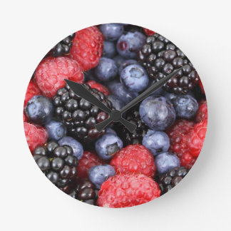 berries background round clock
