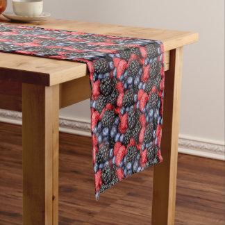 berries background short table runner