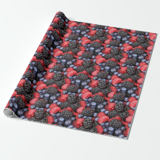 berries background wrapping paper