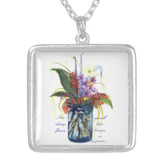 Berries in a Blue Jar  Necklace by Bonhovey