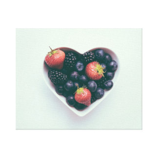 Berries on A Heart Canvas Print