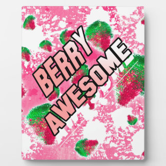 Berry Awesome Fruity Strawberries Plaque