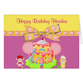 Berry Babies & Goodies Girly Birthday Cards