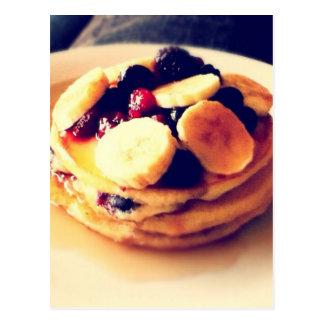 Berry Banana Pancakes Postcard