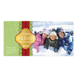 Berry Band Holiday Horizontal - Green Card