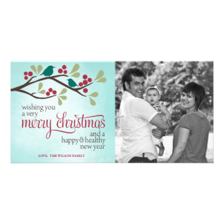 Berry Branch Christmas Photo Greeting Photo Cards