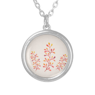 Berry Branches Silver Plated Necklace
