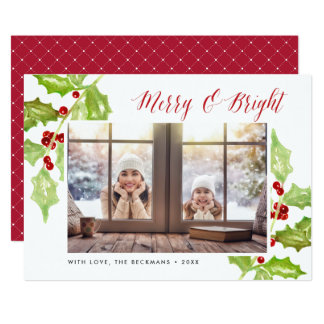 Berry & Bright | Holiday Photo Card