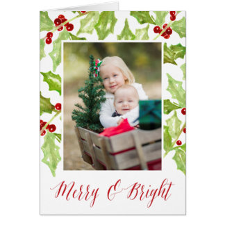 Berry & Bright | Holiday Photo Folded Card
