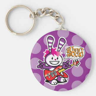 Berry Bunny - Bunny Rock Basic Round Button Key Ring
