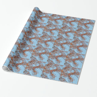 Berry Cardinal Wrapping Paper
