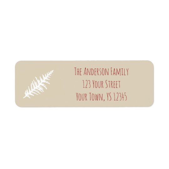 Berry Christmas Address Return Address Label
