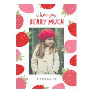 Berry Cute Classroom Valentine Pack Of Chubby Business Cards