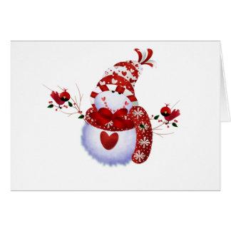 Berry Cute Snowman Card