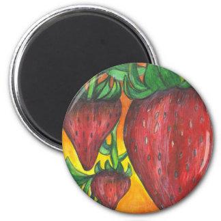 Berry delicious 6 cm round magnet