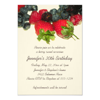 Berry Delight Birthday Invitation