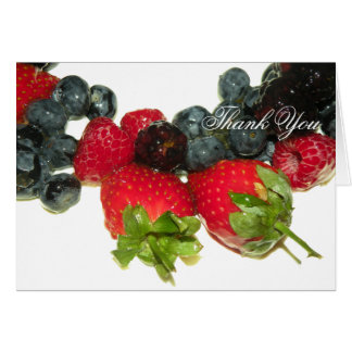 Berry Delight Thank You Note Card