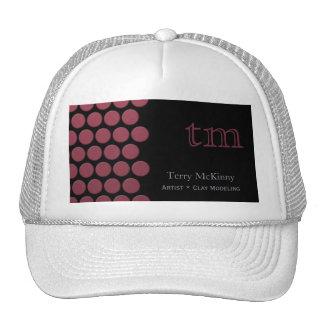 Berry Dots on Black Cap Trucker Hat