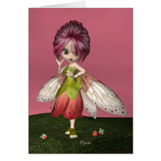 """Berry Fae"" Greeting Card"