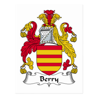 Berry Family Crest Postcard