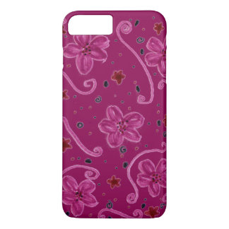 Berry Flower Patterned iPhone 7 Plus Case