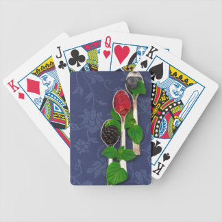 berry fruit background bicycle playing cards