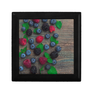 berry fruit background gift box