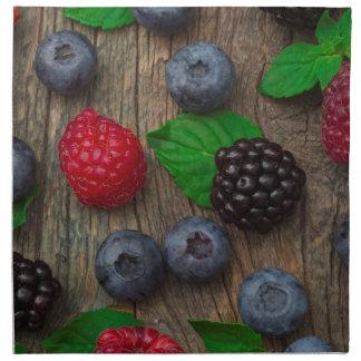 berry fruit background napkin