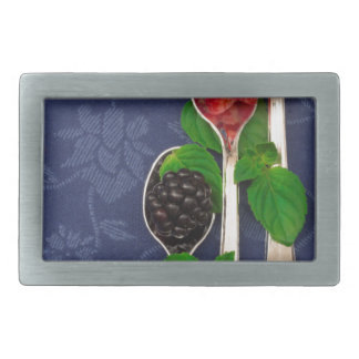 berry fruit background rectangular belt buckle