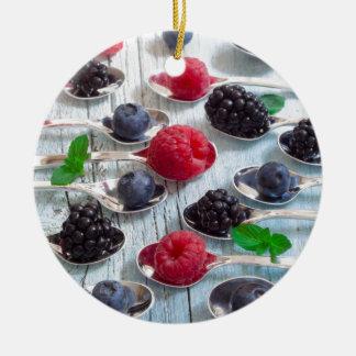 berry fruit ceramic ornament
