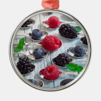 berry fruit metal ornament
