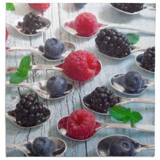 berry fruit napkin