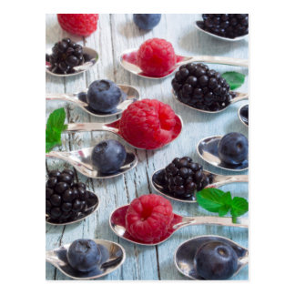 berry fruit postcard