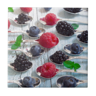 berry fruit tile