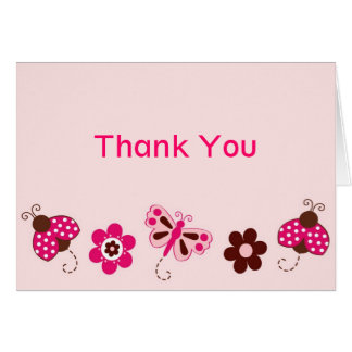 Berry Garden Ladybug Butterfly Thank You Cards