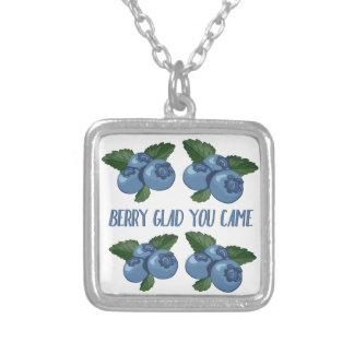 Berry Glad Silver Plated Necklace