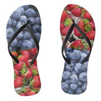 berry good flip flops