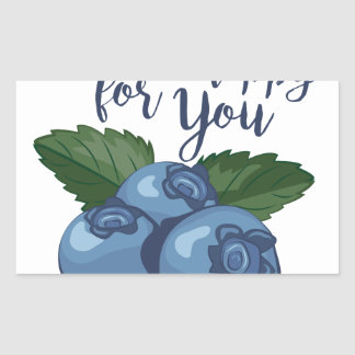 Berry Happy Rectangular Sticker