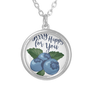 Berry Happy Silver Plated Necklace