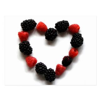 Berry Heart Postcard