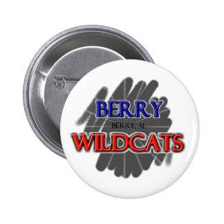 Berry High School Wildcats - Berry AL Pinback Buttons