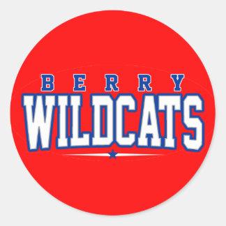 Berry High School; Wildcats Round Stickers